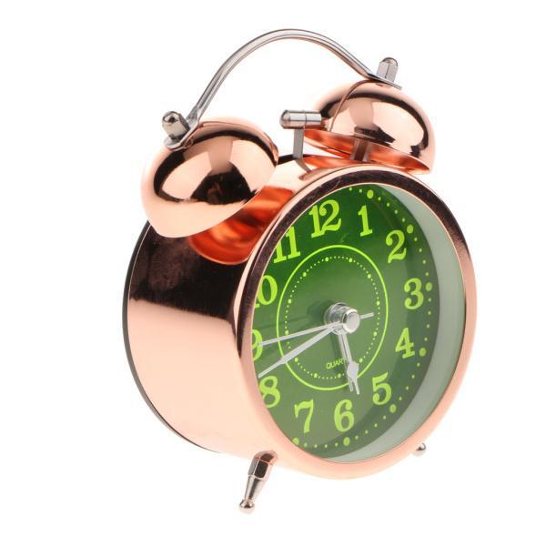 かわいい 小型 目覚し時計 静か ノンティッキング ベッドサイド 卓上 置き 時計 全4種 - #4|stk-shop