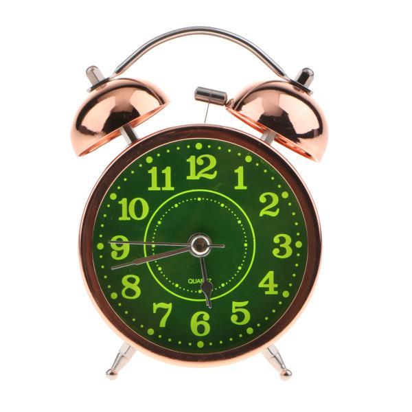 かわいい 小型 目覚し時計 静か ノンティッキング ベッドサイド 卓上 置き 時計 全4種 - #4|stk-shop|02