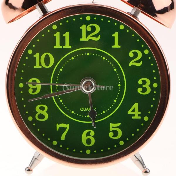 かわいい 小型 目覚し時計 静か ノンティッキング ベッドサイド 卓上 置き 時計 全4種 - #4|stk-shop|11
