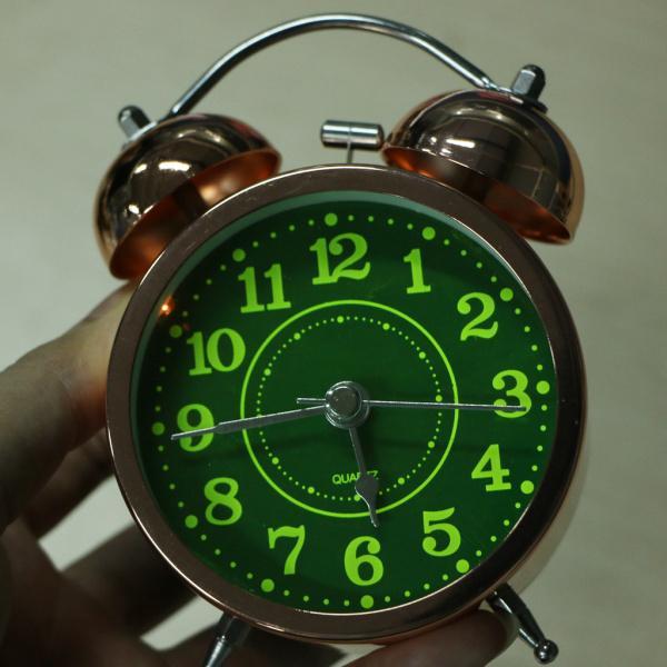 かわいい 小型 目覚し時計 静か ノンティッキング ベッドサイド 卓上 置き 時計 全4種 - #4|stk-shop|03