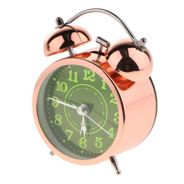 かわいい 小型 目覚し時計 静か ノンティッキング ベッドサイド 卓上 置き 時計 全4種 - #4|stk-shop|05
