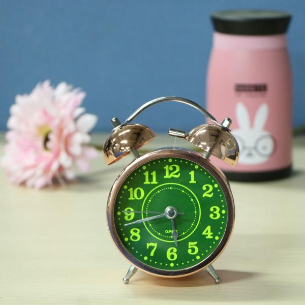 かわいい 小型 目覚し時計 静か ノンティッキング ベッドサイド 卓上 置き 時計 全4種 - #4|stk-shop|06