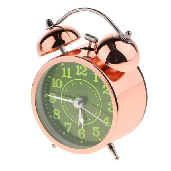 かわいい 小型 目覚し時計 静か ノンティッキング ベッドサイド 卓上 置き 時計 全4種 - #4|stk-shop|08
