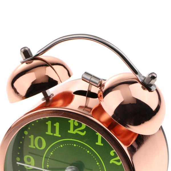 かわいい 小型 目覚し時計 静か ノンティッキング ベッドサイド 卓上 置き 時計 全4種 - #4|stk-shop|09