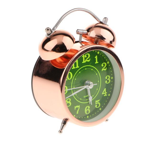 かわいい 小型 目覚し時計 静か ノンティッキング ベッドサイド 卓上 置き 時計 全4種 - #4|stk-shop|10