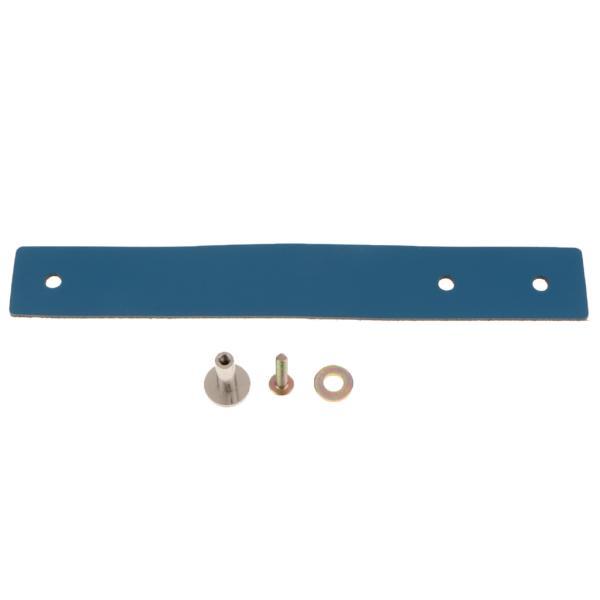 1set手作りレザースーツケースハンドル引き出しキャビネットプルハンドルブルー