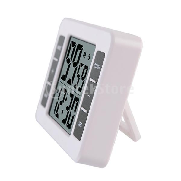 液晶デジタルキッチン調理タイマー付き目覚まし時計カウントアップタイマー stk-shop 02