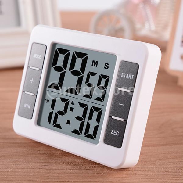 液晶デジタルキッチン調理タイマー付き目覚まし時計カウントアップタイマー stk-shop 04