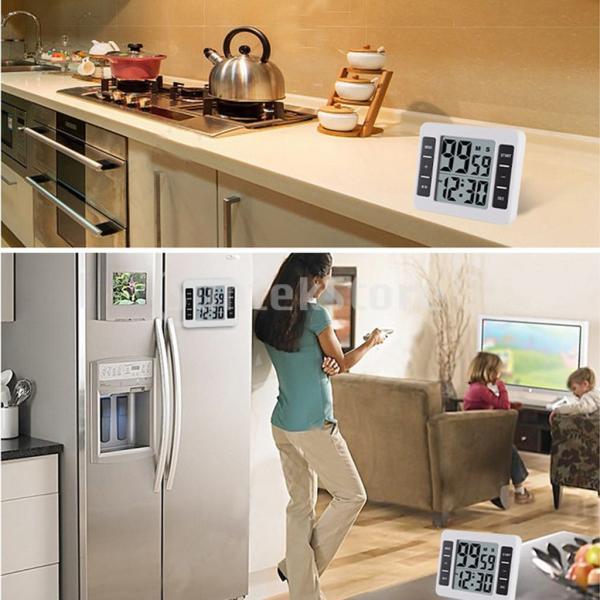 液晶デジタルキッチン調理タイマー付き目覚まし時計カウントアップタイマー stk-shop 05