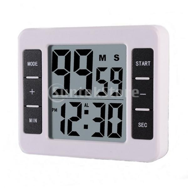 液晶デジタルキッチン調理タイマー付き目覚まし時計カウントアップタイマー stk-shop 08