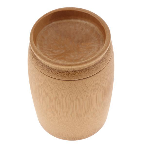 竹ラウンド茶瓶キャンディー容器茶器コーヒーキッチンキャニスターb