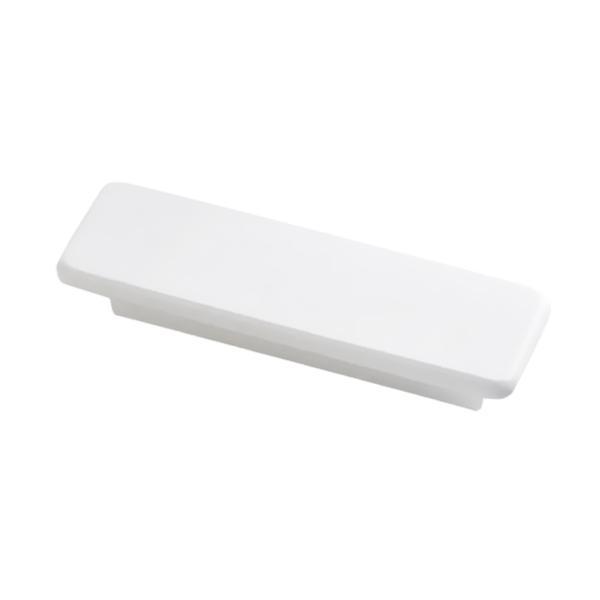 上限の正方形の純木のドア・ノブの家具のドアハンドルは白を引っ張ります
