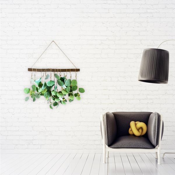 1ピースの人工ユーカリの緑が壁の装飾をぶら下げ人工ブドウの木16.5x13.7インチ