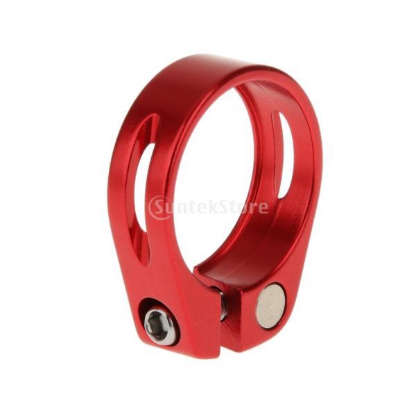 アルミ合金の31.8ミリメートルクイックリリースマウンテンバイクのシートポストクランプは赤いクリップ