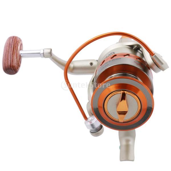 ノーブランド品 6モデル 海水 12 ボール ベアリング 5.5:1 ギヤ比 スピニング 釣り リール 6つ選べる - 5