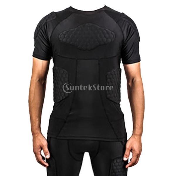 ノーブランド品  速乾性 衝突回避 セルラー フィットネス シャツ クイック ドライ バスケット ボール Tシャツ 4サイズ選べる - XXL|stk-shop