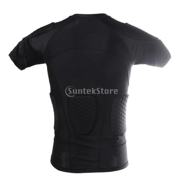 ノーブランド品  速乾性 衝突回避 セルラー フィットネス シャツ クイック ドライ バスケット ボール Tシャツ 4サイズ選べる - XXL|stk-shop|03