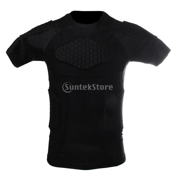 ノーブランド品  速乾性 衝突回避 セルラー フィットネス シャツ クイック ドライ バスケット ボール Tシャツ 4サイズ選べる - XXL|stk-shop|04