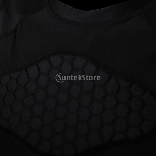 ノーブランド品  速乾性 衝突回避 セルラー フィットネス シャツ クイック ドライ バスケット ボール Tシャツ 4サイズ選べる - XXL|stk-shop|06