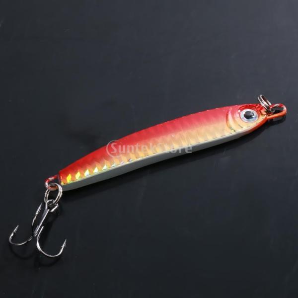 ノーブランド品  ジギング 釣り ルアー 塩水 釣りルアー 3色 - レッド|stk-shop|02