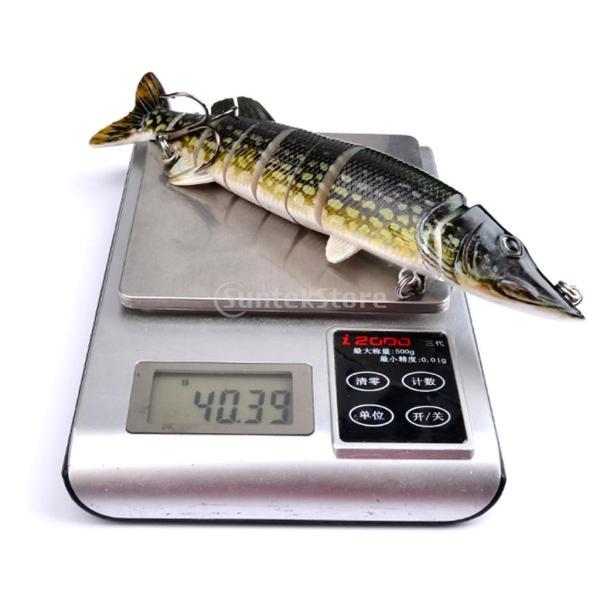 ノーブランド品  ABS樹脂 8セクション マルチ ジョイント 釣り ハード ベイト クランク ベイト ルアー  6色選べる - E