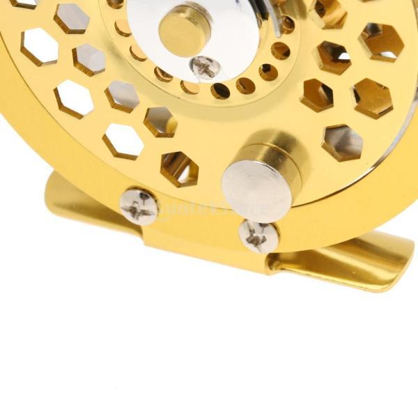 ノーブランド品  アルミニウム フライ フィッシング リール スピニング 5/6# フライ 釣りライン ホイール タックル