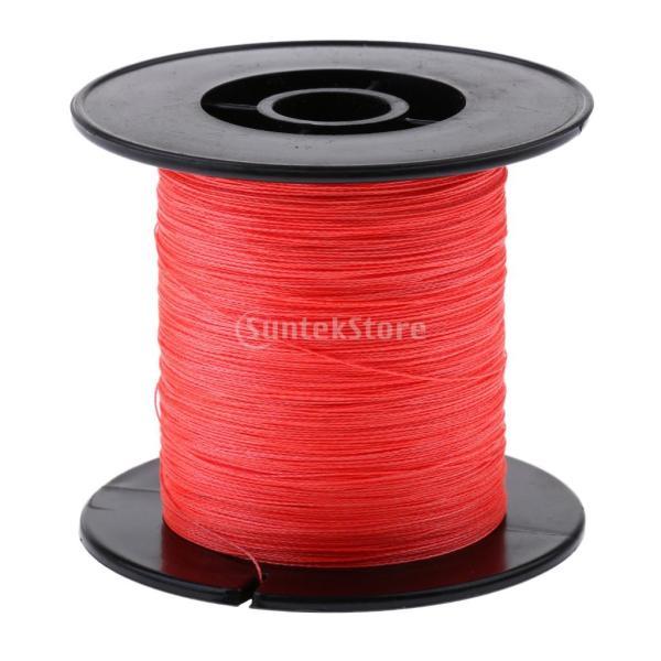 軽量 300M  PE 編組 ライン 海 釣りライン 5色4サイズ選べる - 赤, 0.16mm 20LB