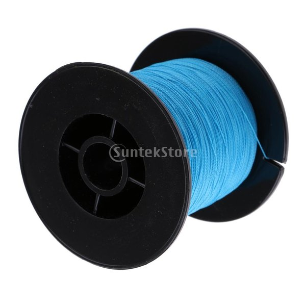 耐摩耗性 超強力 軽量 300M  PE 編組 ライン 海 釣りライン 5色4サイズ選べる - 青, 0.28mm 35LB