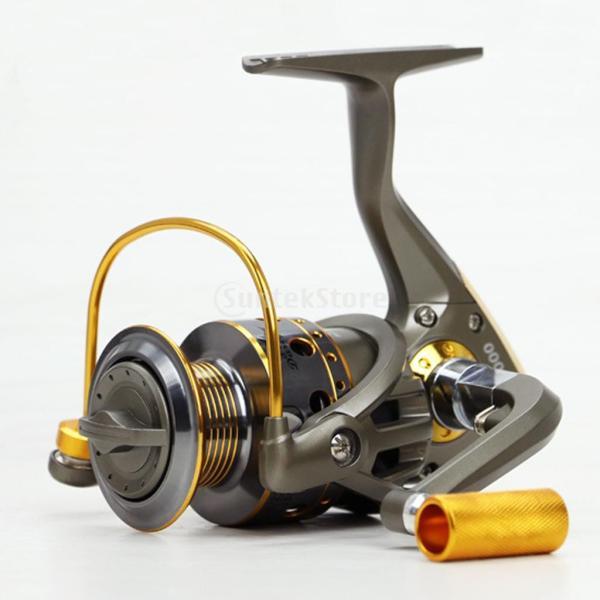 Dovewill 金属+プラスチック製 ベアリング スピニング 釣り リール 金属ハンドル