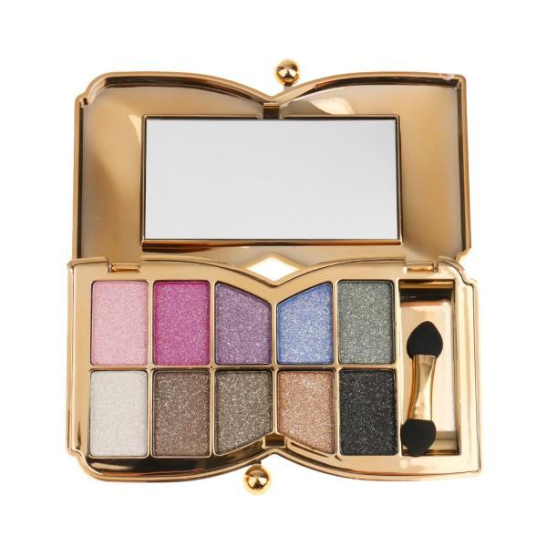 ノーブランド品10色 プロ アイシャドウパレット メイクアップ 化粧用ブラシ 全6色選ぶ - 1#|stk-shop