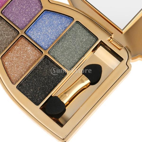 ノーブランド品10色 プロ アイシャドウパレット メイクアップ 化粧用ブラシ 全6色選ぶ - 1#|stk-shop|02