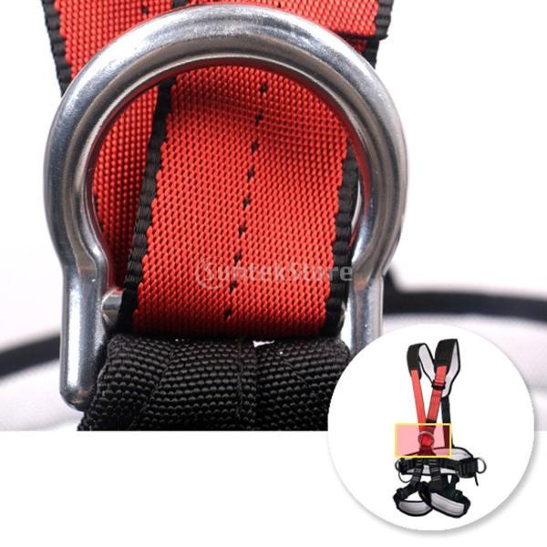 アウトドア クライミング用 懸垂下降 空中作業 全身ロック 安全ベルト ハーネス カラビナ付き 耐久性 stk-shop 07