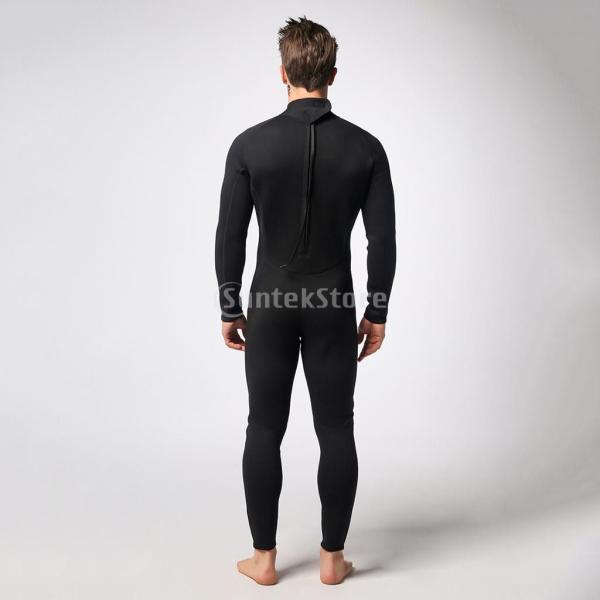06c54ee61a6 Fenteer メンズ ネオプレン フルスーツ ウェットスーツ サーフィン服 ダイビングスーツ 水着 フィット感 快適 3mm 全