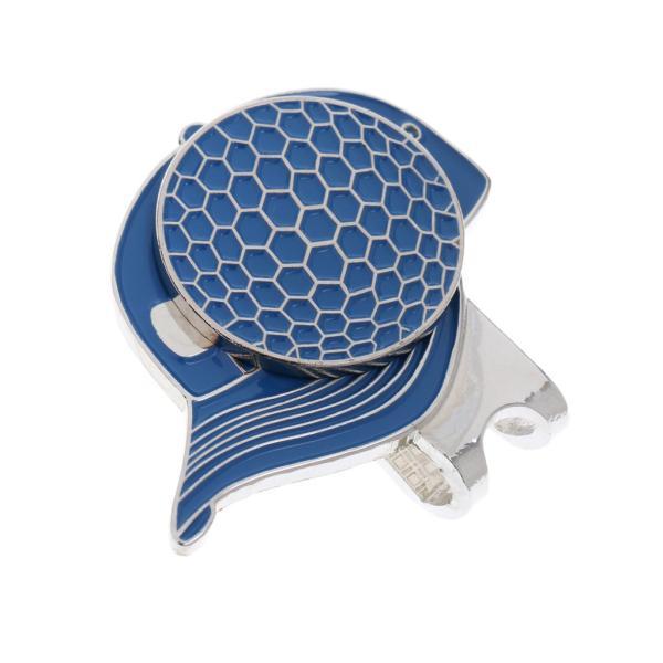 合金 帽子パタン ゴルフ ハットクリップ付 マグネット ボールマーカー グリーンマーカー 4色選べる - ブルー stk-shop