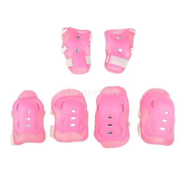 子供 キッズ プロテクター 7点セット 保護具 ヘルメット 肘、膝 手首パッド 耐衝撃性 快適 5〜15歳の子供に適し 3色選べる - ピンク|stk-shop|11