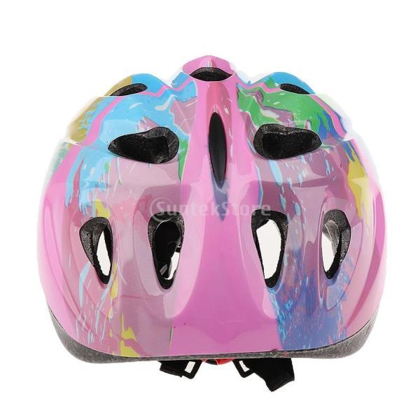 子供 キッズ プロテクター 7点セット 保護具 ヘルメット 肘、膝 手首パッド 耐衝撃性 快適 5〜15歳の子供に適し 3色選べる - ピンク|stk-shop|14