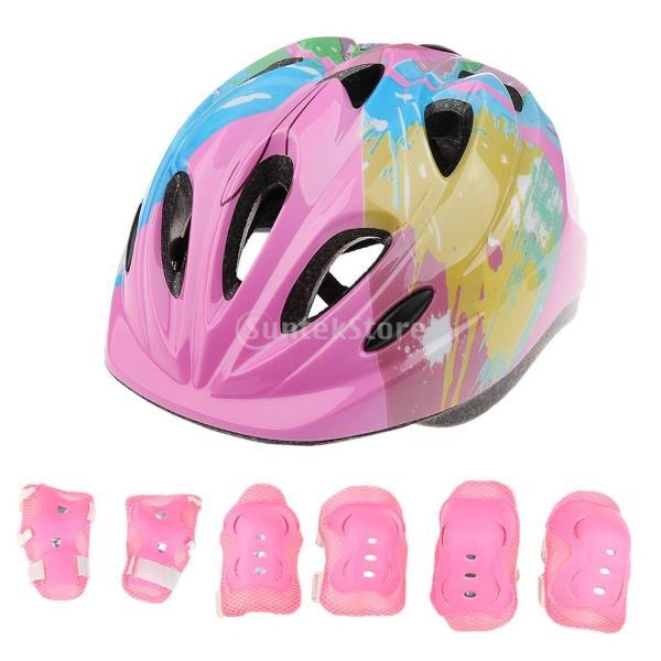 子供 キッズ プロテクター 7点セット 保護具 ヘルメット 肘、膝 手首パッド 耐衝撃性 快適 5〜15歳の子供に適し 3色選べる - ピンク|stk-shop|16