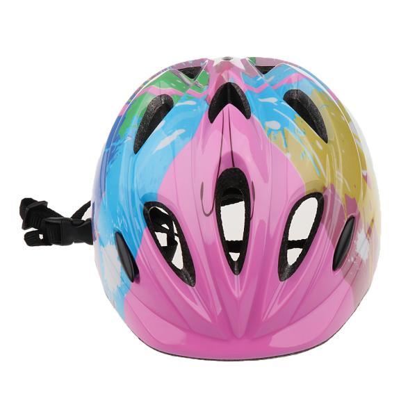 子供 キッズ プロテクター 7点セット 保護具 ヘルメット 肘、膝 手首パッド 耐衝撃性 快適 5〜15歳の子供に適し 3色選べる - ピンク|stk-shop|05