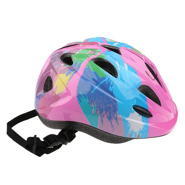 子供 キッズ プロテクター 7点セット 保護具 ヘルメット 肘、膝 手首パッド 耐衝撃性 快適 5〜15歳の子供に適し 3色選べる - ピンク|stk-shop|07
