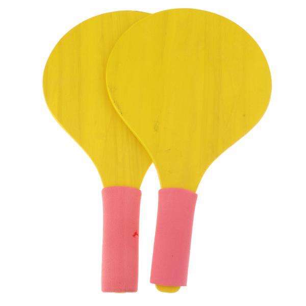 ビーチボールパドル/ラケット卓球バドミントンラケットバットゲーム黄色