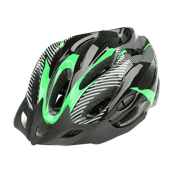 バイザー付きバイクヘルメット耐衝撃性EPSサイクリング自転車ヘッドギアグリーンブラック
