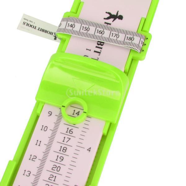 SONONIA プラスチック製 ホーム 子供 足 靴 長さ 幅 測定 フットメジャー 靴測定器