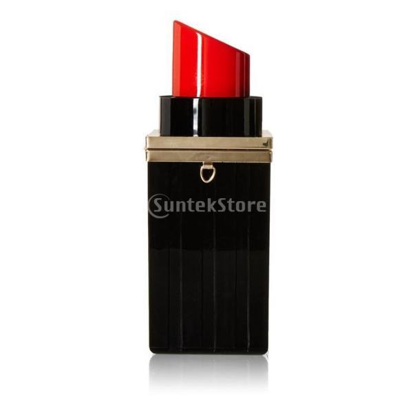 cfbaf04de8eb ... 女性 口紅形 リップバーム ハンドバッグ クラッチ パーティー 財布 ショルダー チェーンバッグ ギフト 全2色 ...