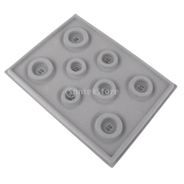 「ノーブランド」 ブレスレット DIY ビーズ 対策 ツール グレーダイヤル ディスクプレート 宝石|stk-shop|02