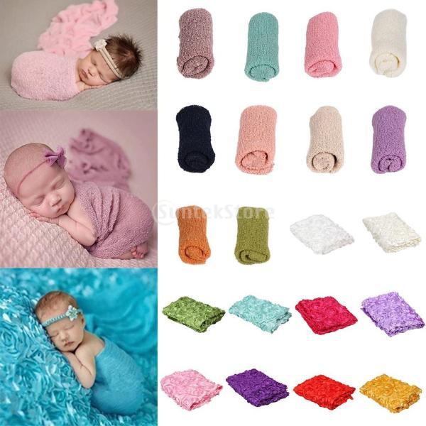 D DOLITY 新生児 赤ちゃん 写真撮影 小道具 ブランケット おくるみ 毛布 ニット ラップ ソフト ストレッチ 非常に伸縮性 全10色選べる - #5