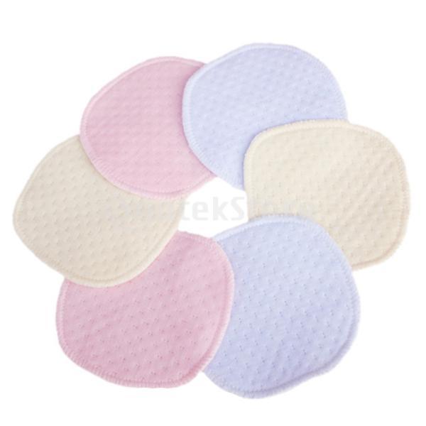 洗える 再利用可能 通気性 高吸収性  防水 母乳パッド 三層 コットン 6枚