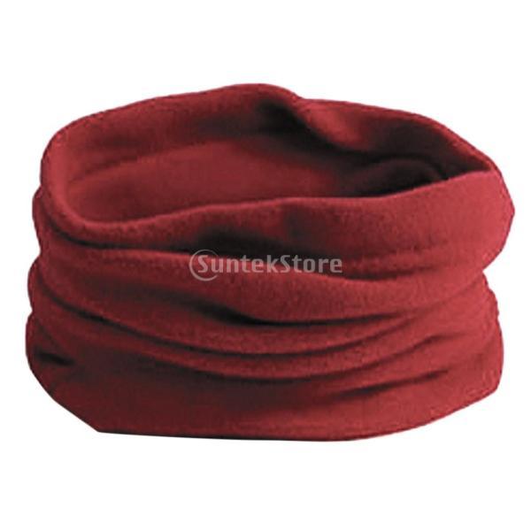 送料無料メンズ フリース ネックウォーマー 快適 スカーフ マフラー スキー バイク マスク 防風 暖かい  赤 stk-shop 10
