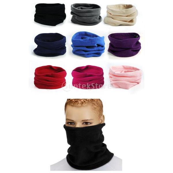 メンズ フリース ネックウォーマー 快適 スカーフ マフラー スキー バイク マスク 防風 暖かい 全12色 - ブルゴーニュ|stk-shop|04