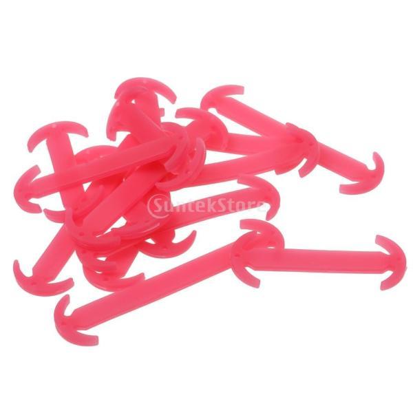 Dovewill 1ペア 発光 シリコン 結ばない 防水 靴紐 靴ひも シューレース 全6色 - ローズ