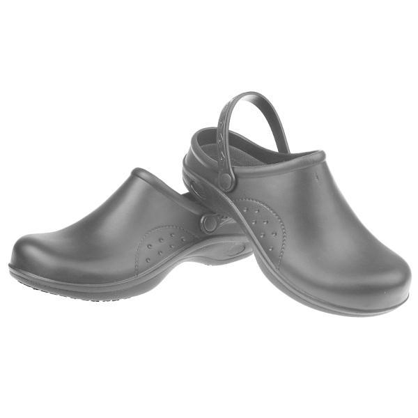 Lovoski 女性 男性 シェフ 安全靴 作業靴 静電防止 軽量 滑り止め 防水 全2色5サイズ - ブラック, 40